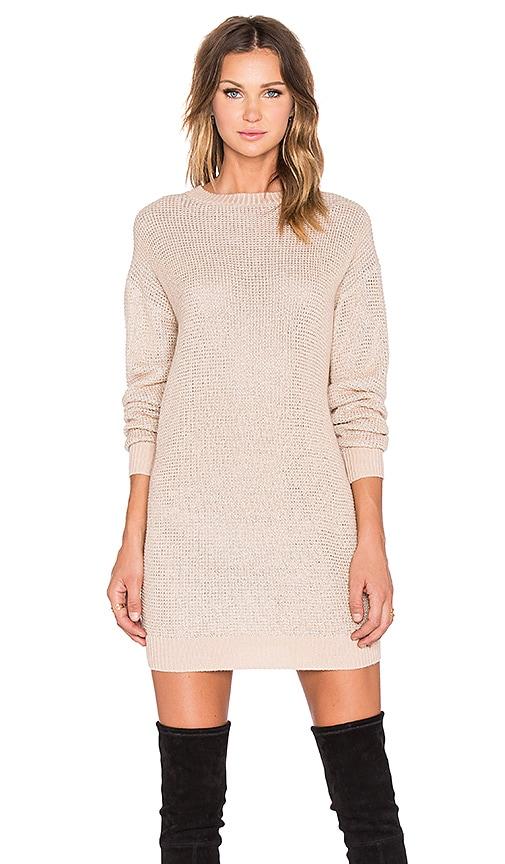 Love Moschino Sweater Dress in Blush & Silver