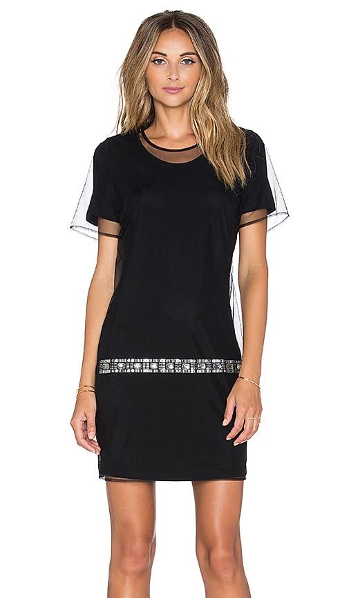 Love Moschino Sheer Overlay Mini Dress in Black