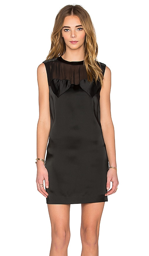 Love Moschino Sheer Panel Mini Dress in Black