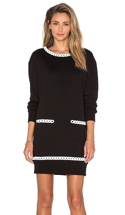 Love Moschino Detail Mini Dress in Black