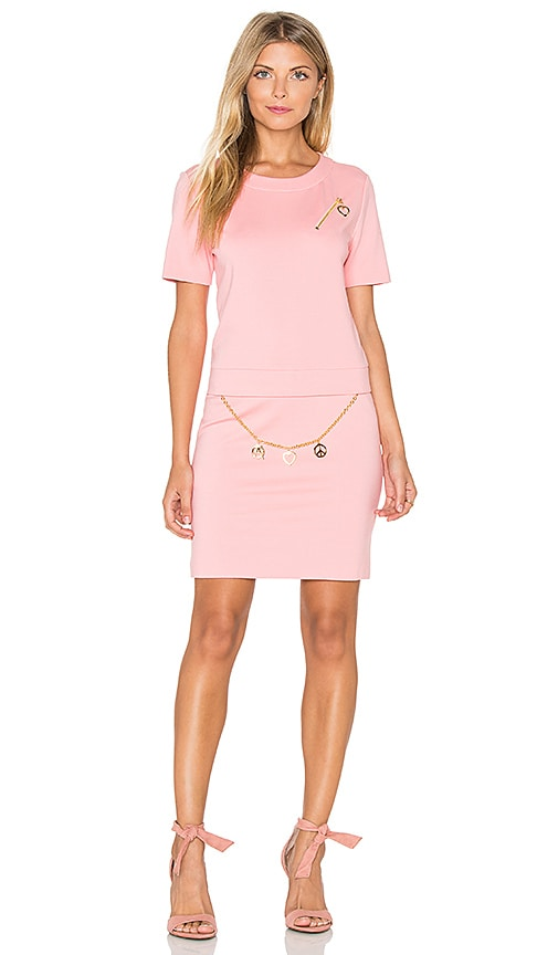 Love Moschino Shift Dress in Light Pink