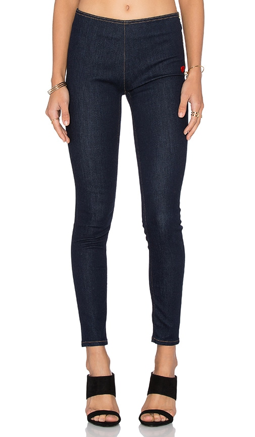 Love Moschino Super Skinny Jeans in Dark Denim