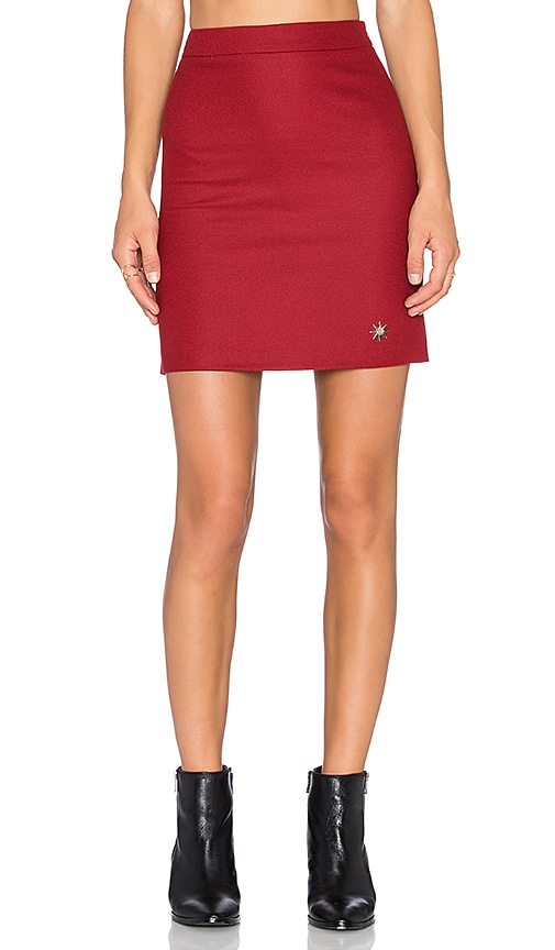 Love Moschino Mini Skirt in Red