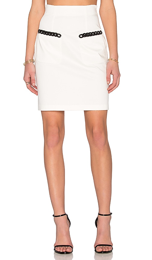 Love Moschino Detail Skirt in White