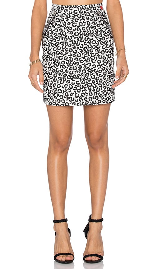 Love Moschino Front Zipper Pockets Mini Skirt in Black