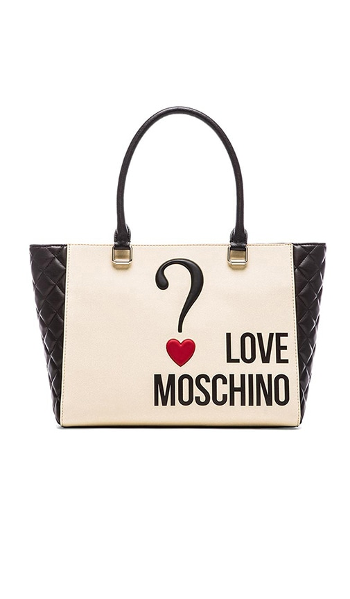 Love Moschino Tote in Cream