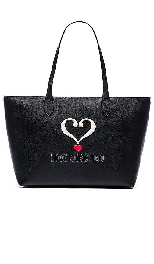 Love Moschino Heart Tote in Black
