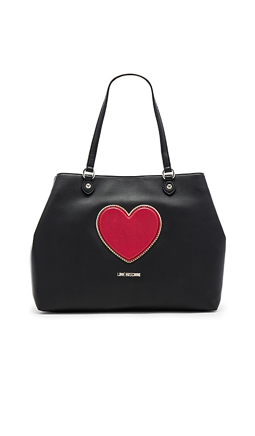 Love Moschino Heart Tote in Black