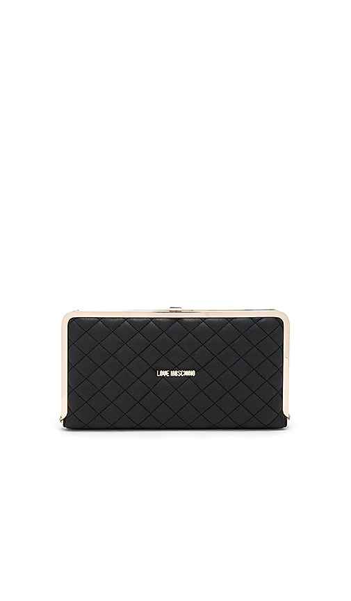 Love Moschino Quilted Clutch in Black