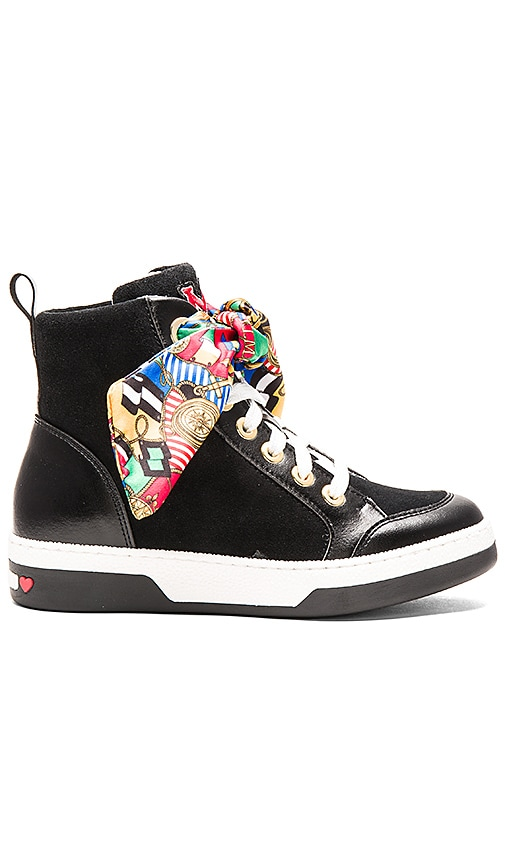 Love Moschino Nautical Sneaker in Black