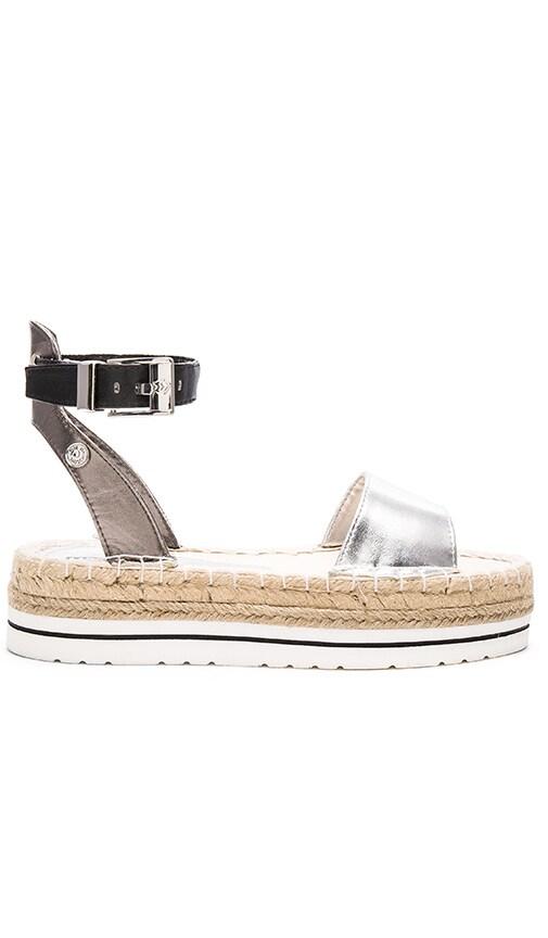 c74e94938449 Love Moschino Color Block Sandal in Silver