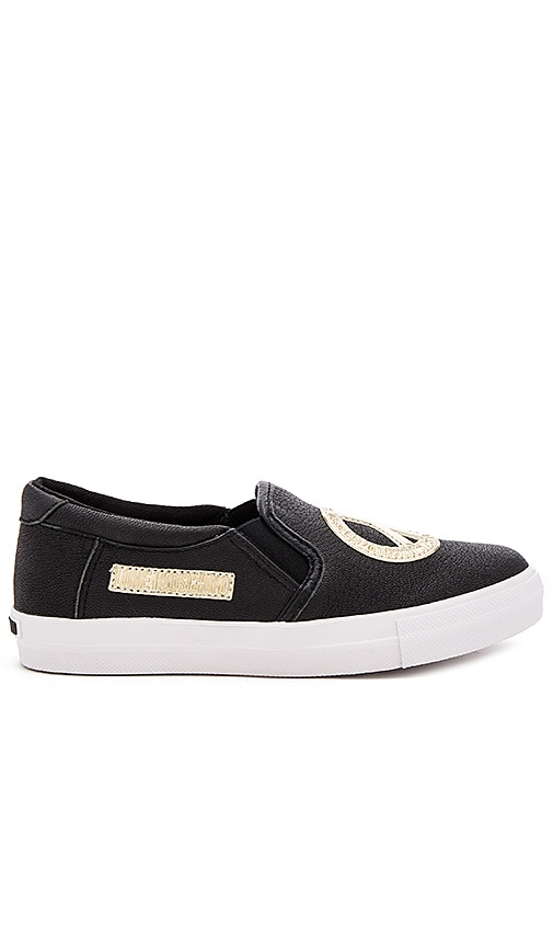 Love Moschino Peace Sign Sneaker in Black