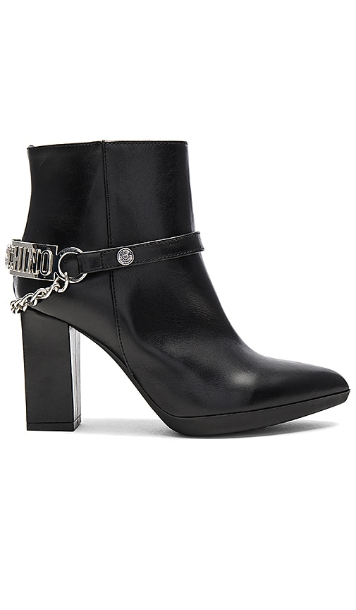 Love Moschino High Heel Ankle Boot in Black