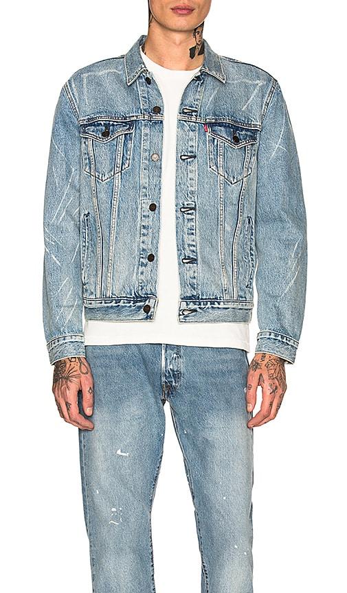 LEVI'S Premium Trucker Jacket in Rolled Up Dollar