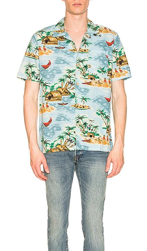 88f5cee6c LEVI'S Premium Hawaiian Shirt in Pelican Cameo Blue | REVOLVE