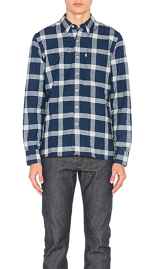 LEVI'S Premium Pinnacle Sunset One Pocket Shirt in Blue