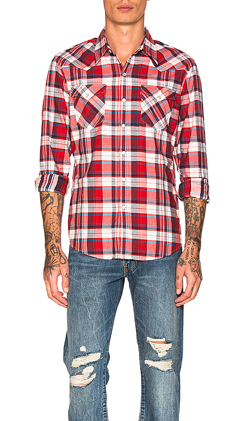LEVI'S Premium Barstow Western Shirt in Red