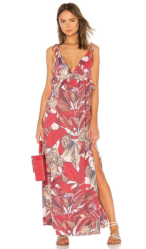 Maaji Long Dress in Red