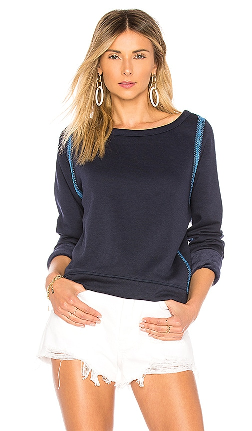 Maaji Deep Blue Lagoon Reversible Sweatshirt in Navy