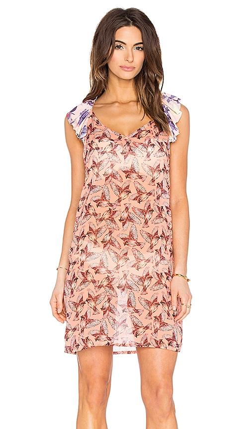 Maaji Sweet Songbird Dress in Orange Multi