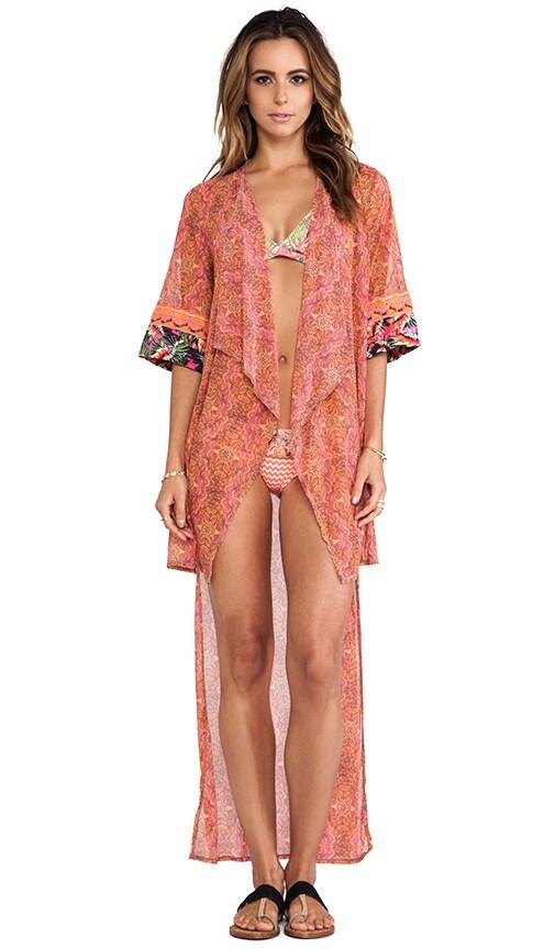 Asymmetric Hem Kimono