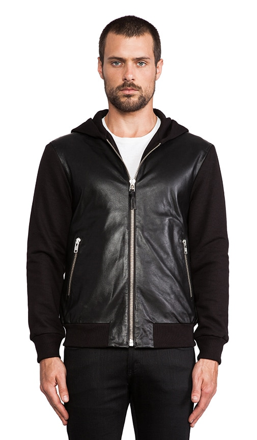Elvin Leather Hoodie