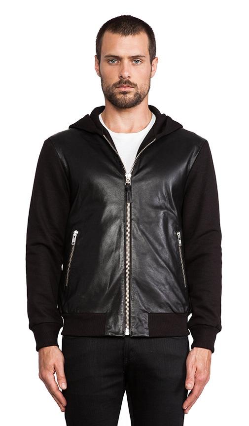 Elvin Leather Hoodie