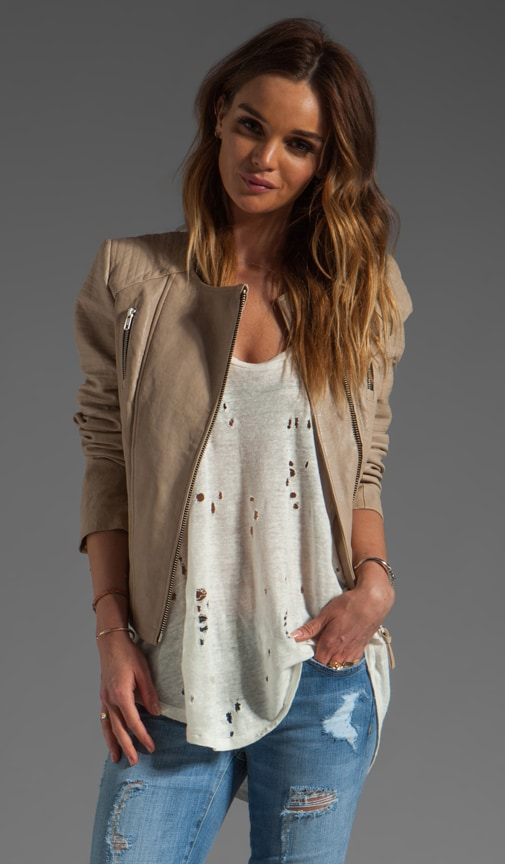 Brooklyn Distressed Leather Jacket