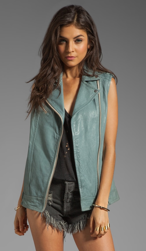 Frederica Distressed Leather Vest