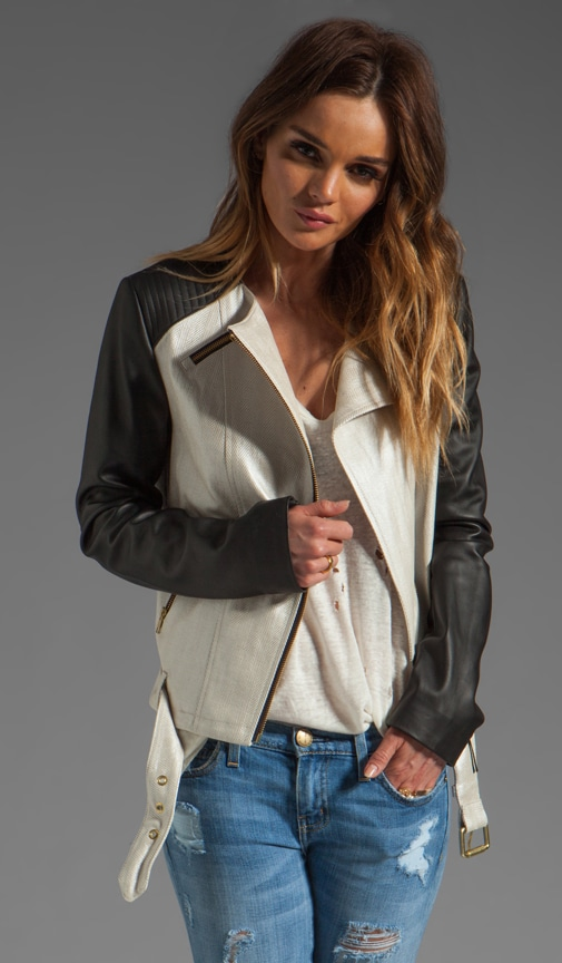 Belle Distressed Leather Jacket