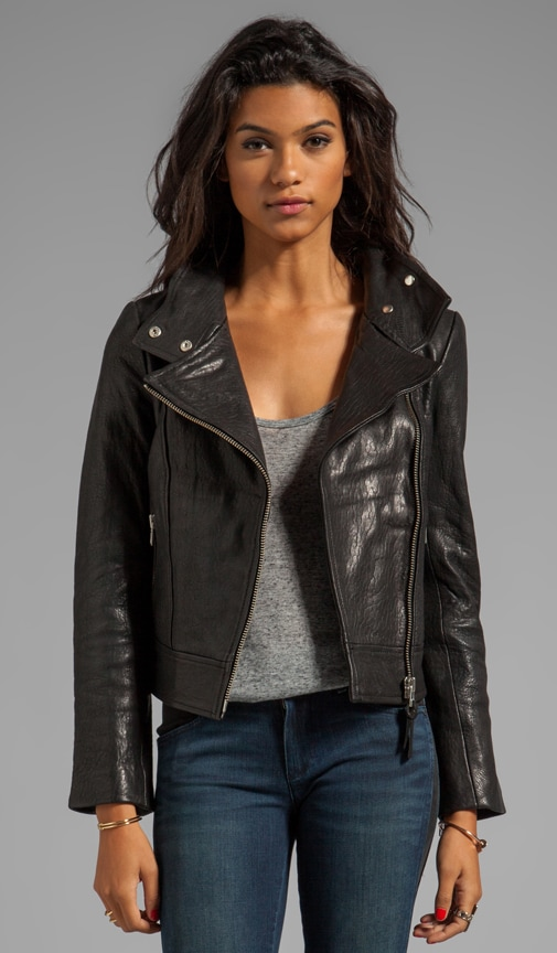Lisa Pebble Leather Jacket