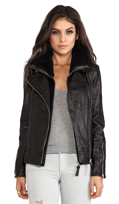 Veruca Distressed Leather Jacket