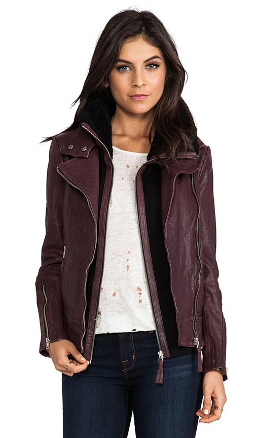 Veruca Distressed Leather Jacket