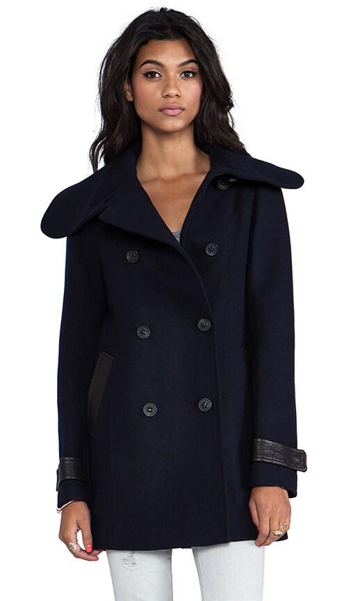 Patricia Flat Wool Coat