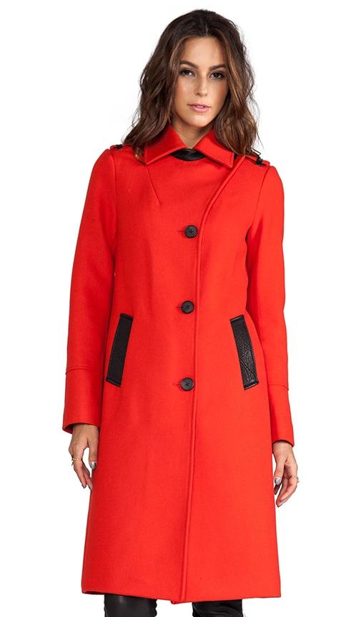 Paulina Flat Wool Coat