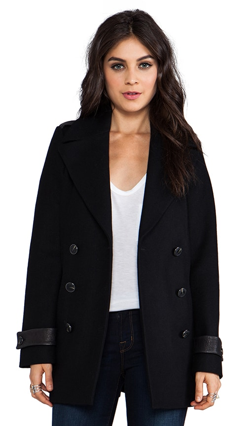 Samantha Flat Wool Coat