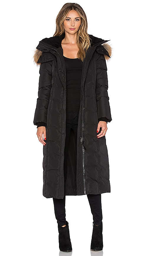 Mackage Jada Jacket with Asiatic Raccoon and Sheepskin in Black