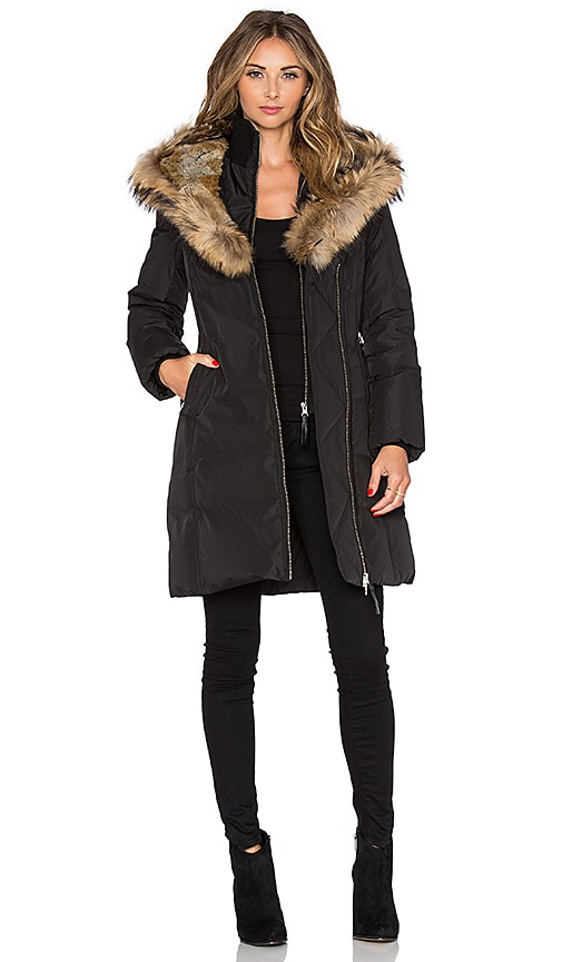 Trish Jacket with Asiatic Raccoon Fur