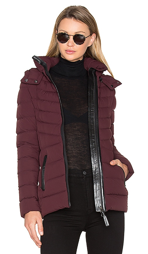 Mackage Patti Coat in Burgundy