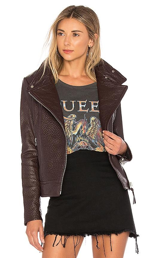 Mackage Lisa Leather Jacket in Wine