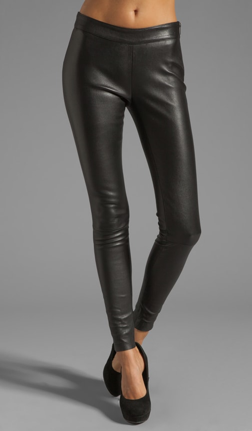 Navi Stretch Leather Pant