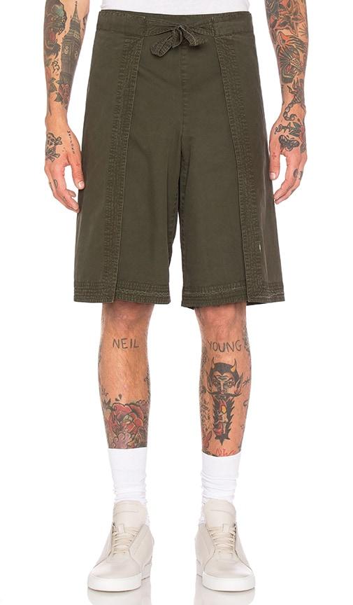 Maharishi Hakama Shorts in Olive