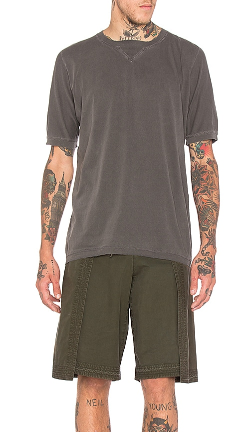 Maharishi Cross Tee in Gray