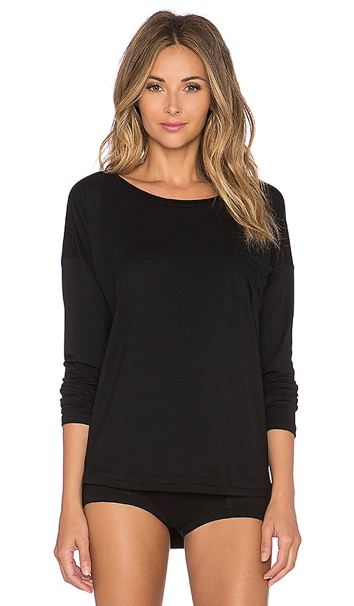 MAISON DU SOIR Greta Top in Black