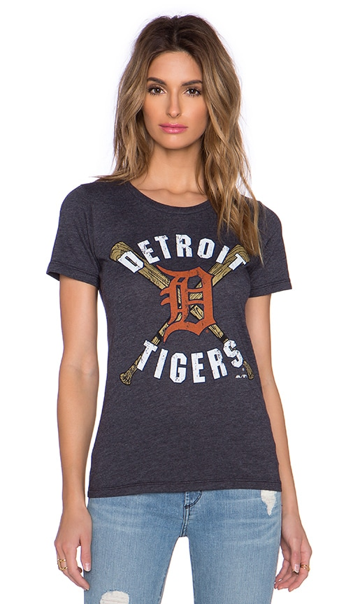 Majestic Threads Detroit Tigers Triblend Tee in Navy