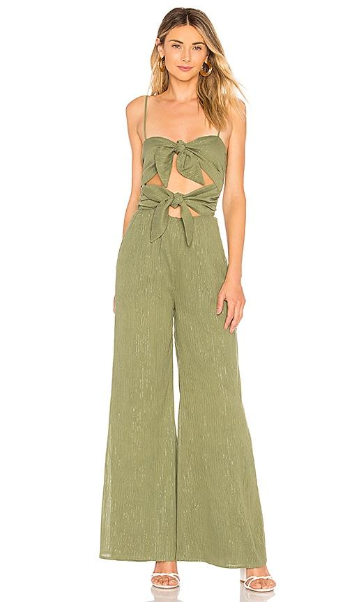 c60eff83fee MAJORELLE Kory Jumpsuit in Jade Green Stripe