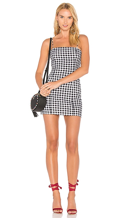 MAJORELLE Pearson Dress in Black & White