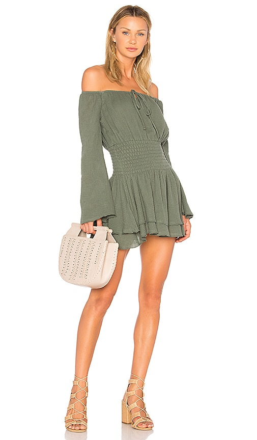 MAJORELLE Kalani Dress in Green