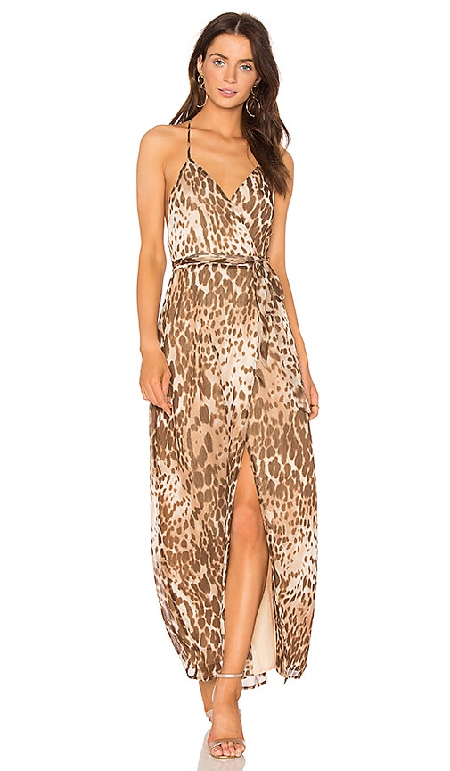 MAJORELLE Cleopatra Dress in Brown