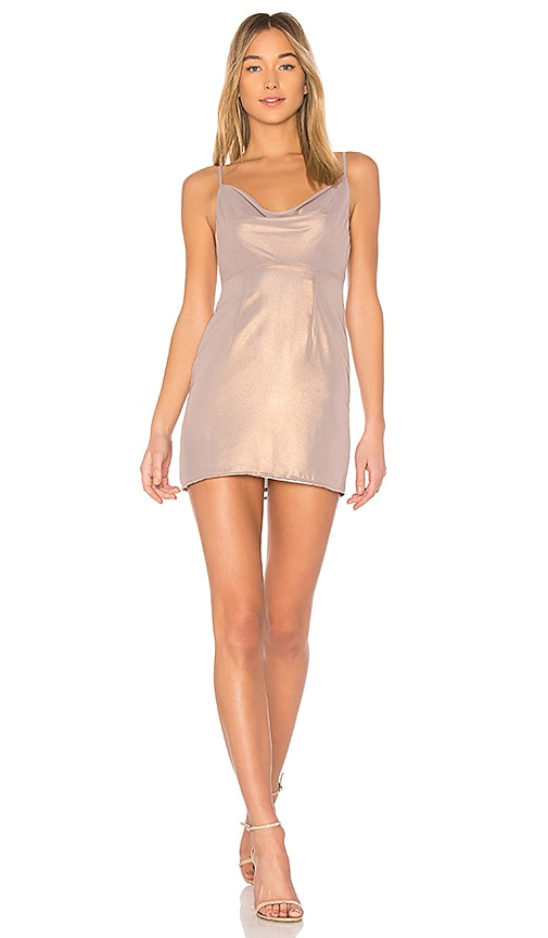 MAJORELLE Ballet Dress in Metallic Neutral